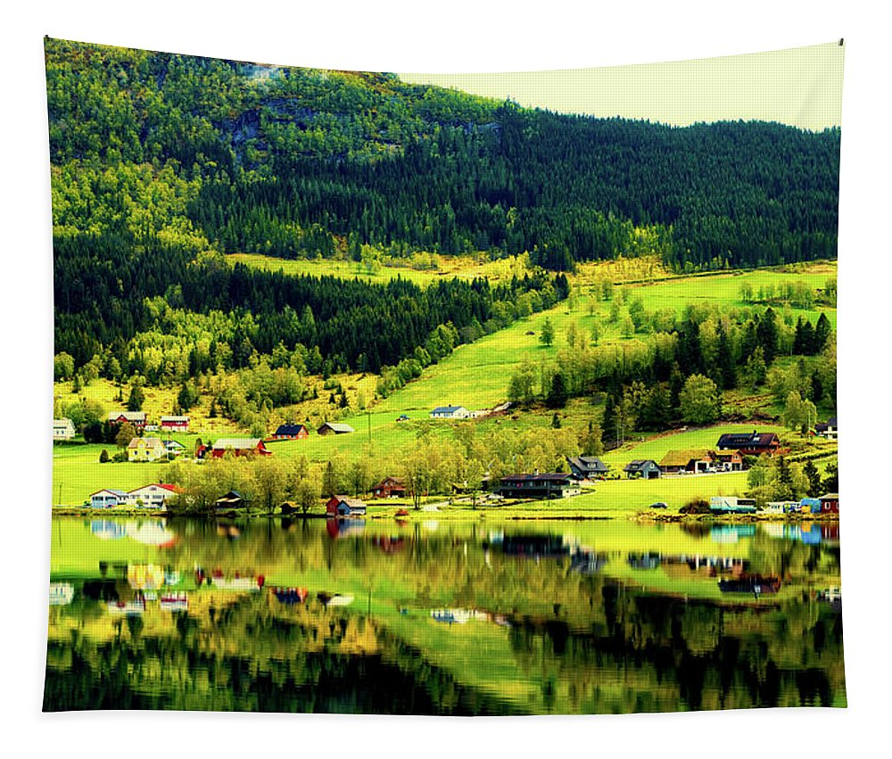 Norway Tapestry featuring the photograph Summer In Norway by Pixabay