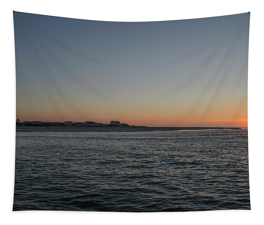 Sunrise Tapestry featuring the photograph Sunrise At Townsends Inlet by Bill Cannon