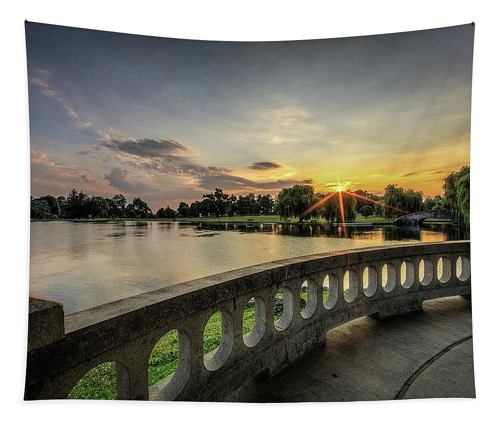 Hiawatha Tapestry featuring the photograph Sunrise In The Park by Everet Regal
