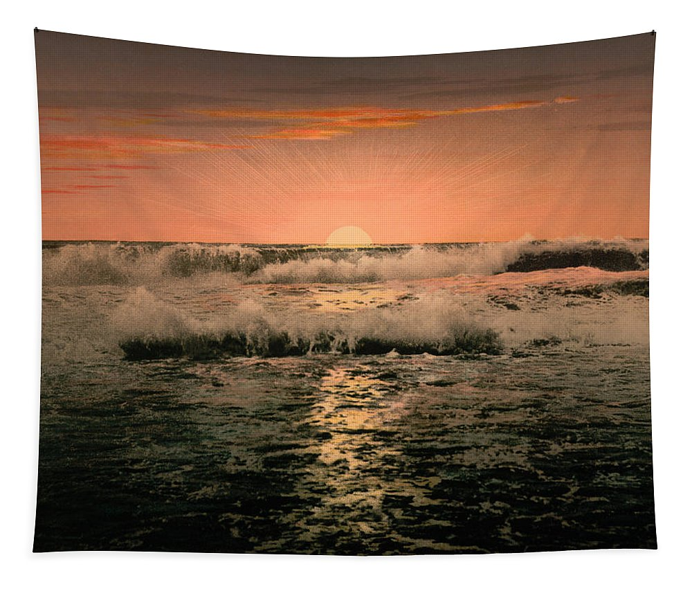 Sunrise Tapestry featuring the photograph Sunrise by Unknown