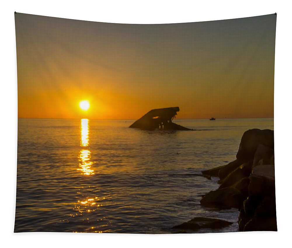 Sunset Tapestry featuring the photograph Sunset Beach by Bill Cannon