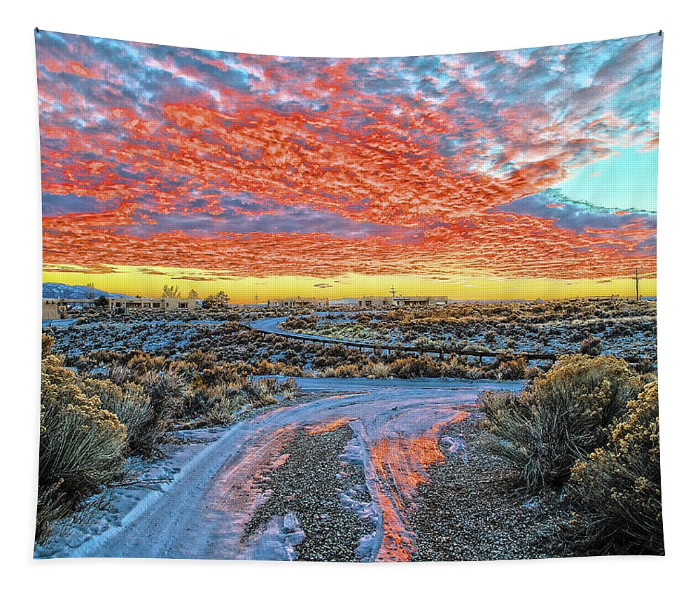 Sunset Tapestry featuring the photograph Sunset In El Prado by Charles Muhle