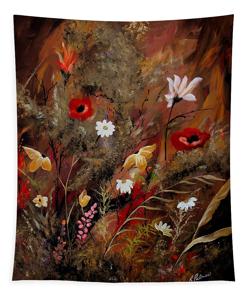 Abstract Tapestry featuring the painting Sweet Inspiration by Ruth Palmer