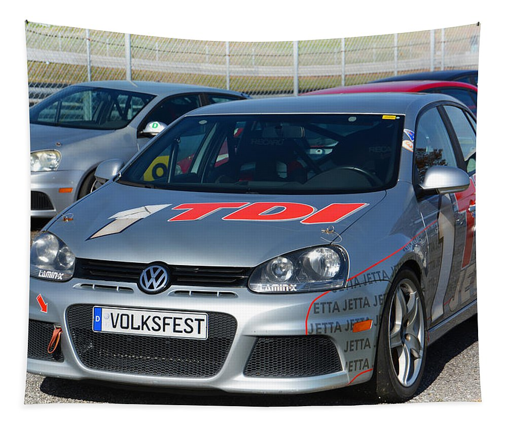 Jetta Tapestry featuring the photograph 1 Tdi Volksfest by Mike Martin