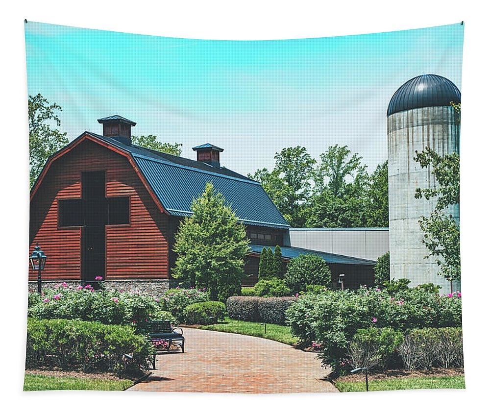 Billy Graham Tapestry featuring the photograph The Billy Graham Library by Library Of Congress