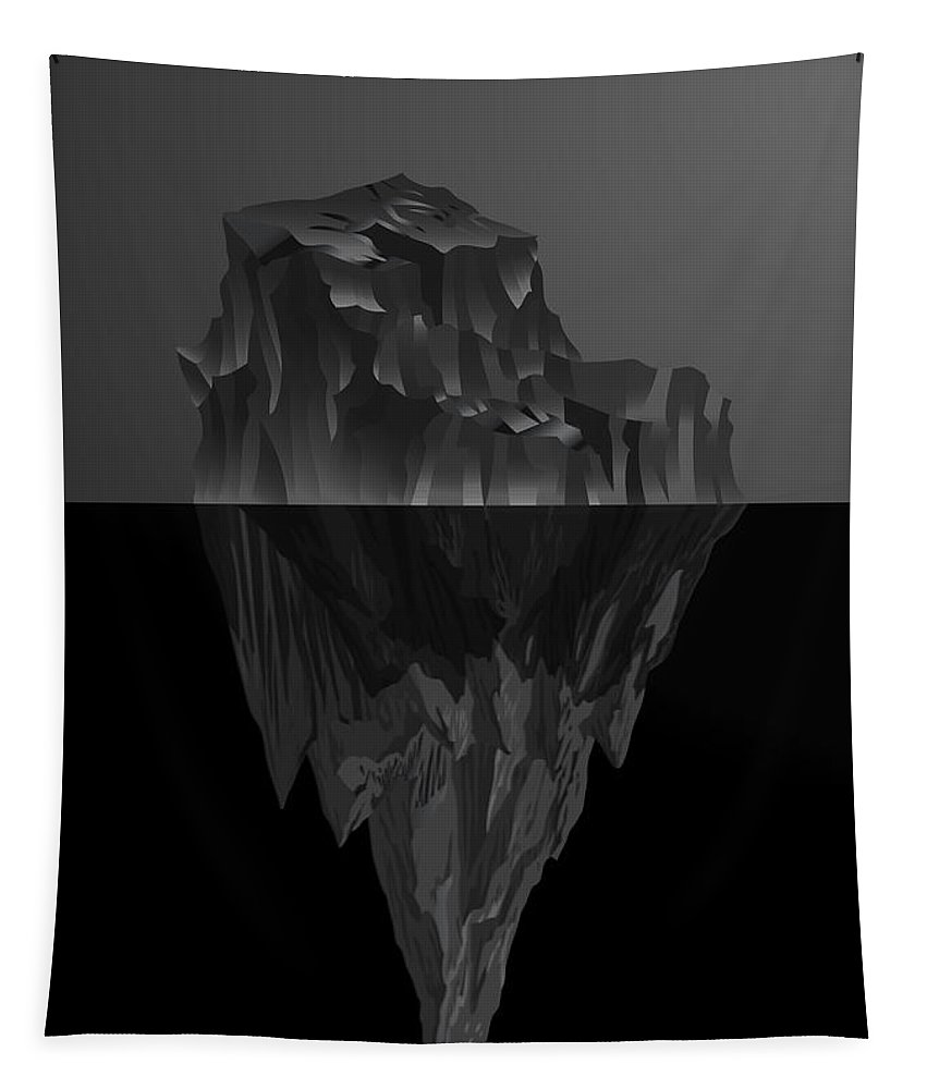 'black On Black' By Serge Averbukh Collection Tapestry featuring the photograph The Black Iceberg by Serge Averbukh
