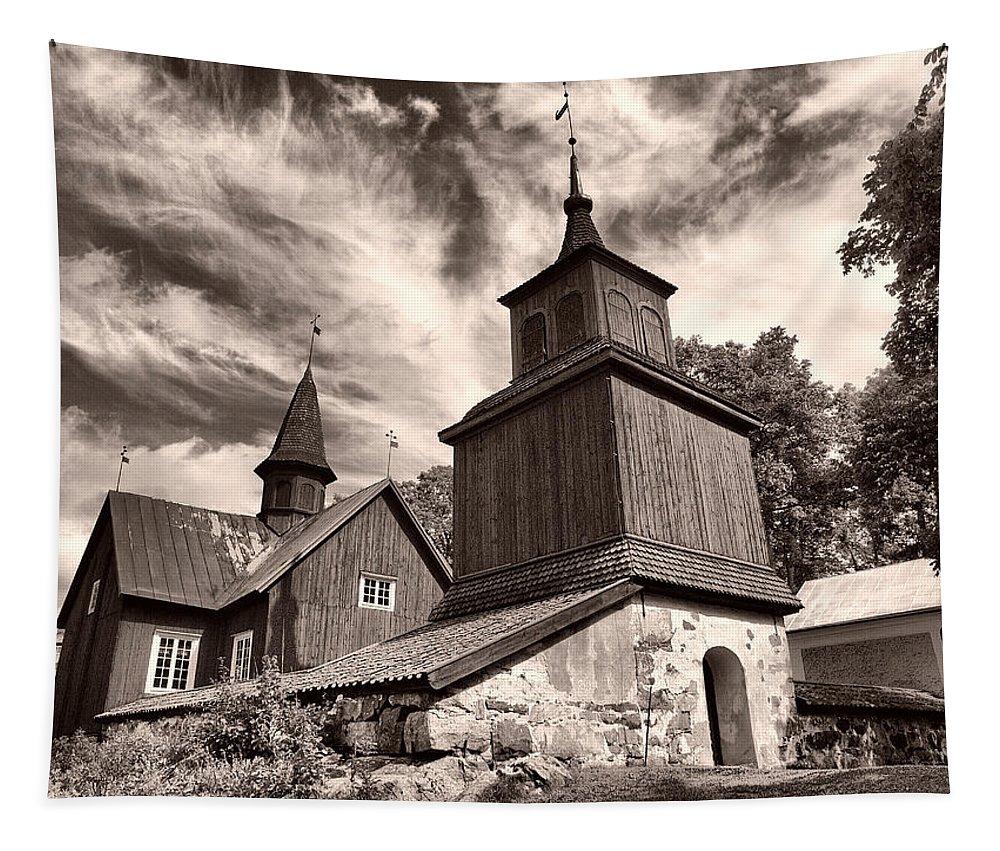 Lehtokukka Tapestry featuring the photograph The Church Of Fagervik by Jouko Lehto