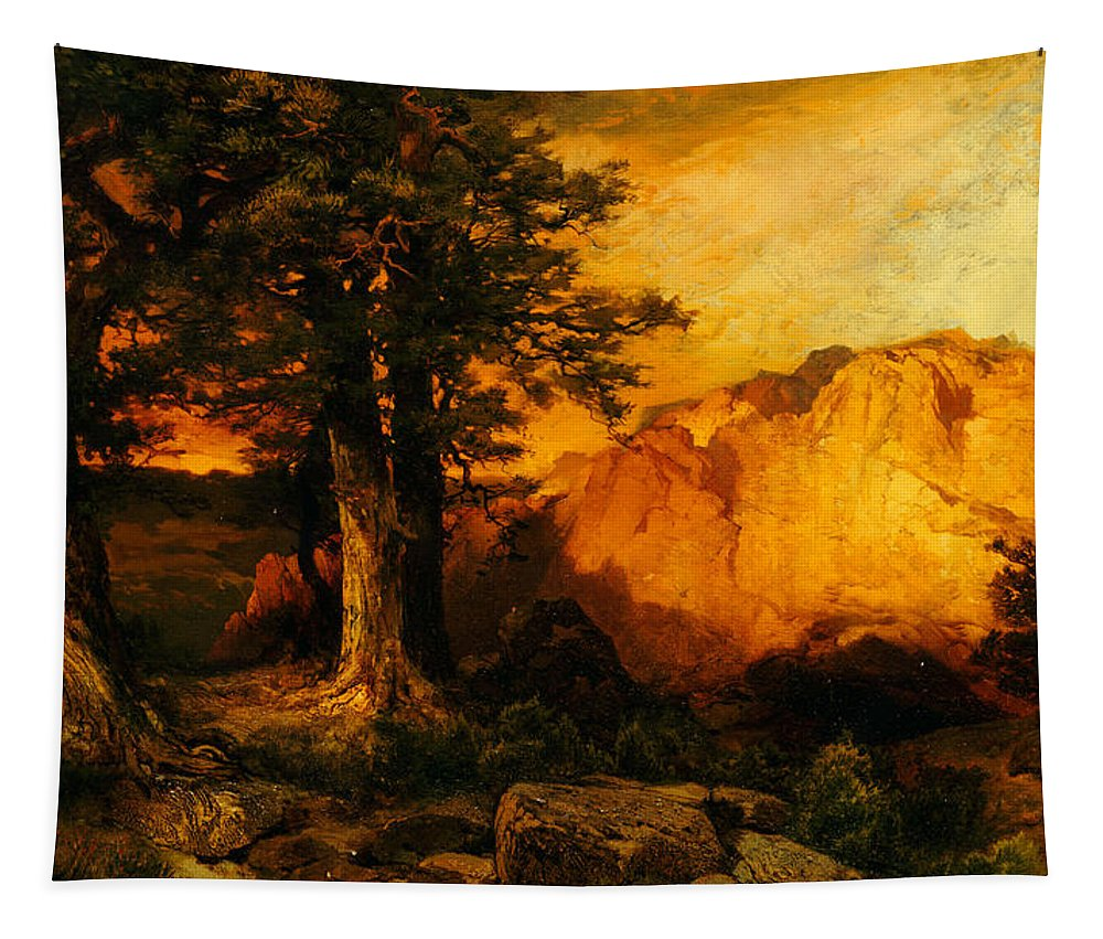 Thomas Moran Tapestry featuring the painting The Grand Canyon by Thomas Moran