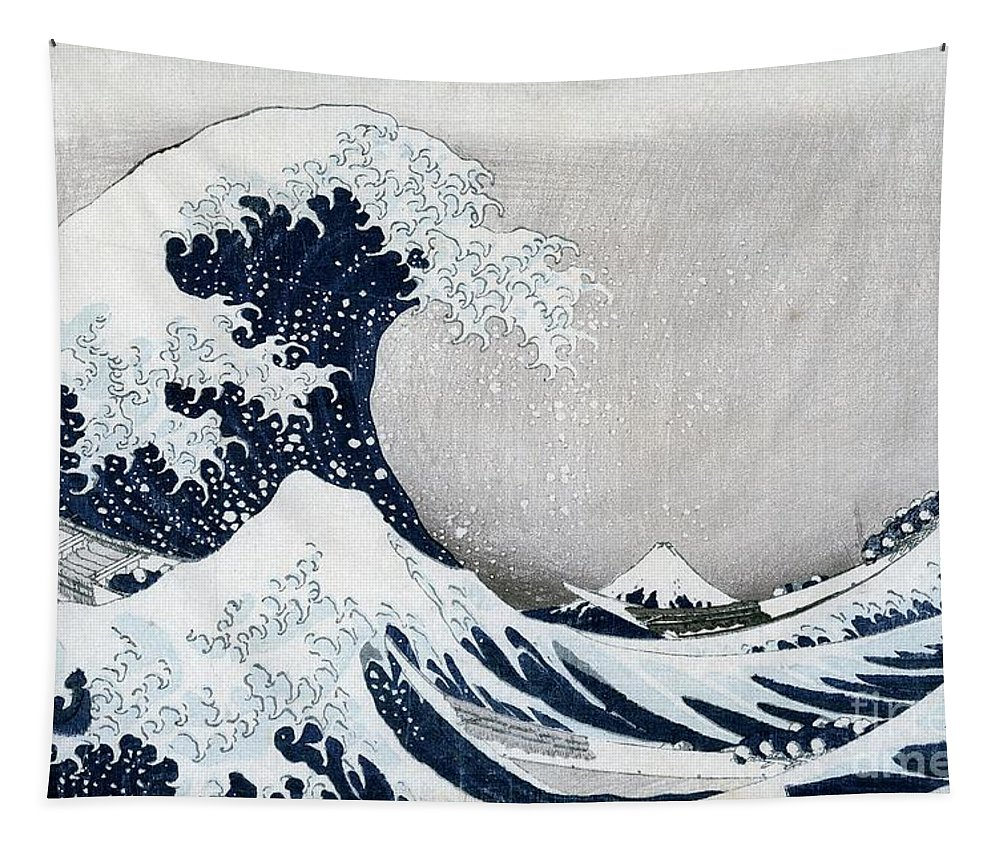 The Tapestry featuring the painting The Great Wave of Kanagawa by Hokusai