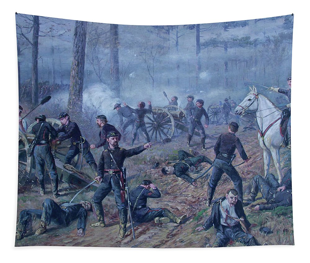 Painting Tapestry featuring the painting The Hornet's Nest by Thomas Corwin Lindsay