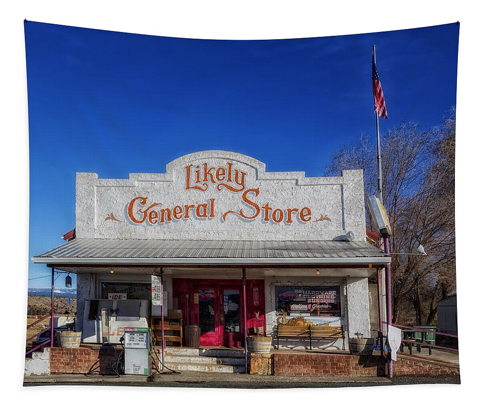 Likely Tapestry featuring the photograph The Likely General Store - California by Mountain Dreams