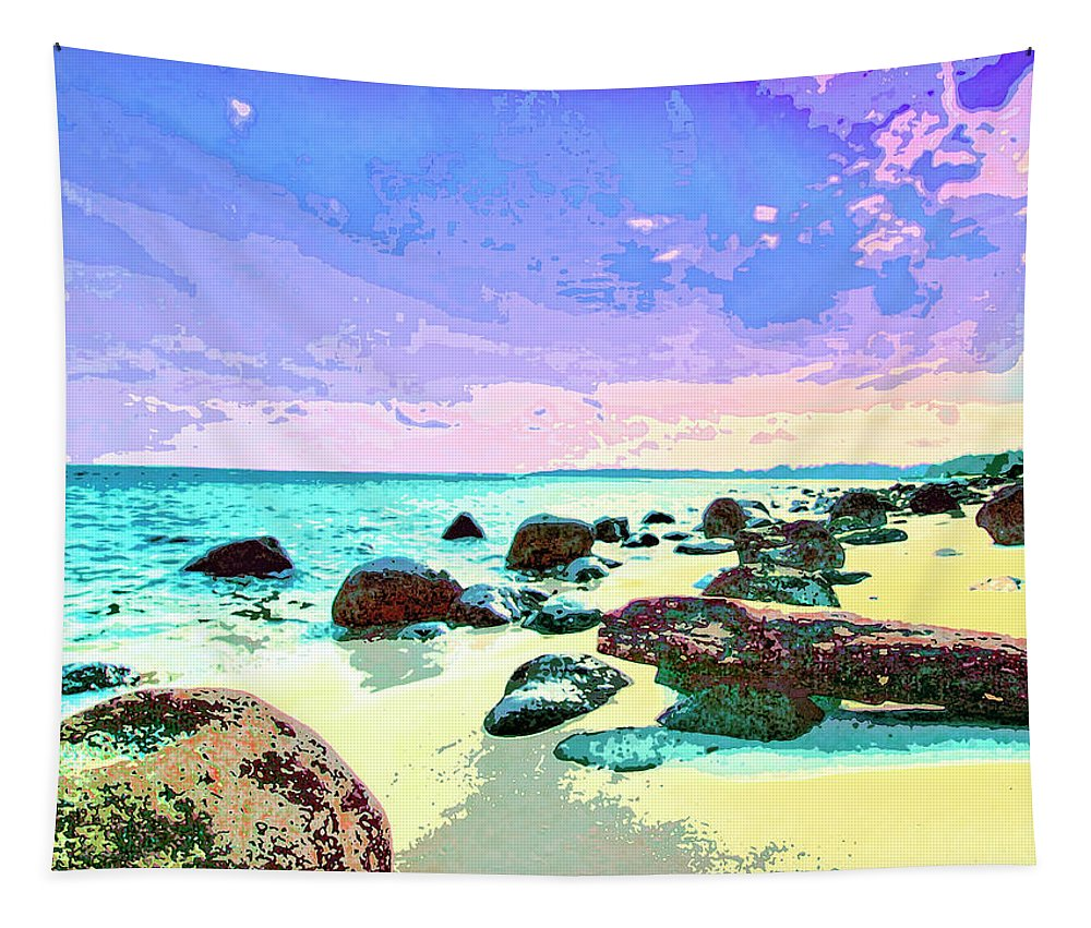 The Morning After Tapestry featuring the mixed media The Morning After by Dominic Piperata