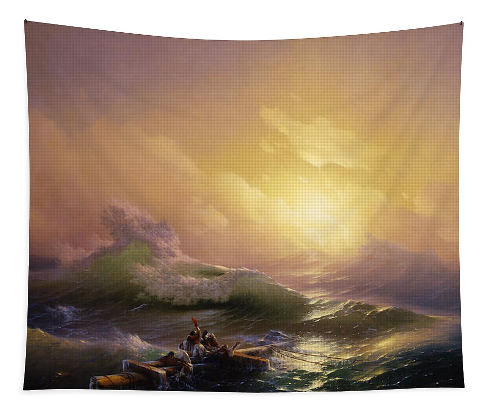 Painting Tapestry featuring the painting The Ninth Wave by Mountain Dreams