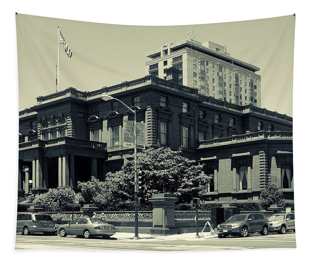 Pacific-union Club Tapestry featuring the photograph The Pacific - Union Club by Mountain Dreams