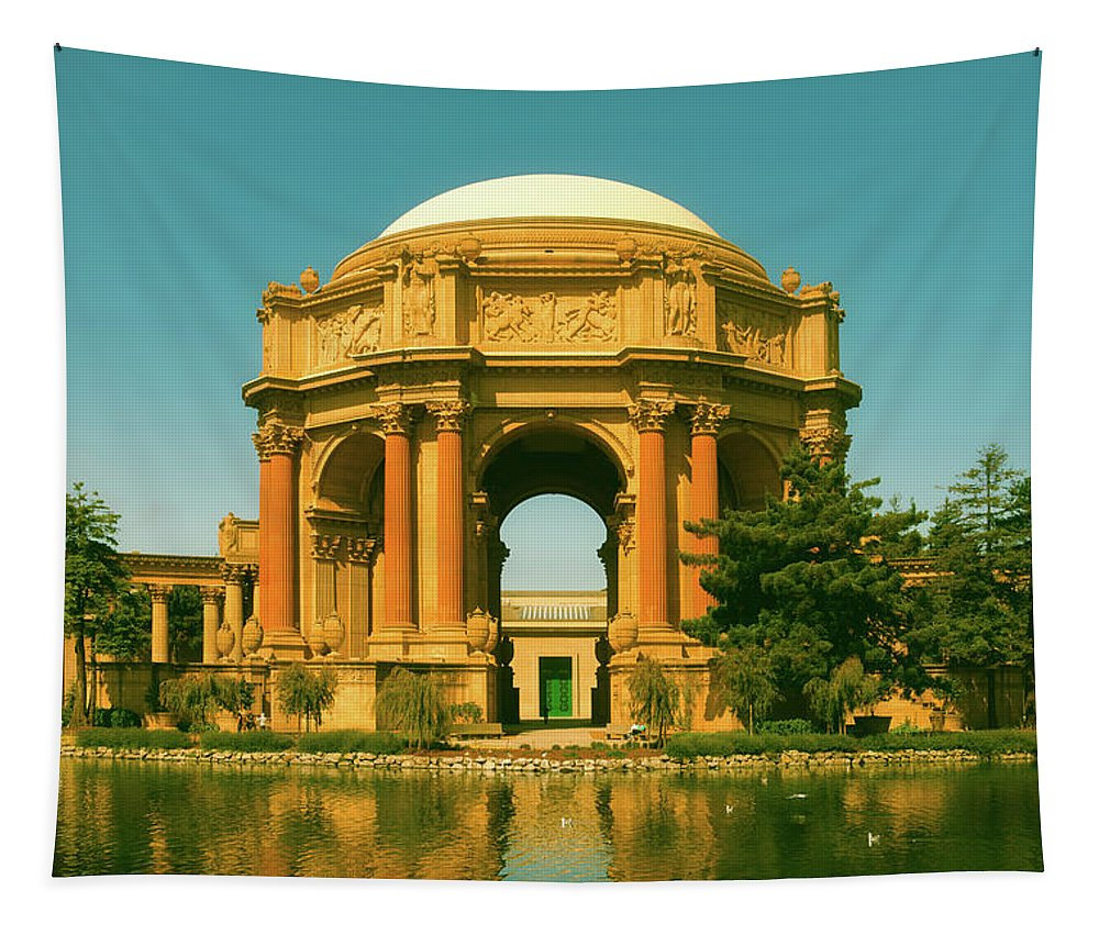 Palace Of Fine Arts Tapestry featuring the photograph The Palace Of Fine Arts by Mountain Dreams