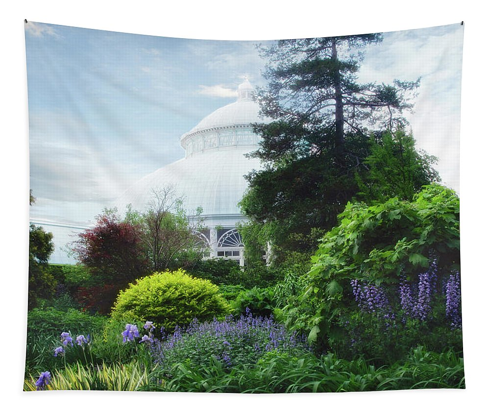 New York Botanical Garden Tapestry featuring the photograph The Perennial Garden by Jessica Jenney