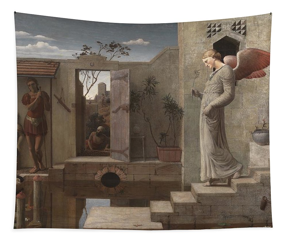 Painting Tapestry featuring the painting The Pool Of Bethesda by Mountain Dreams