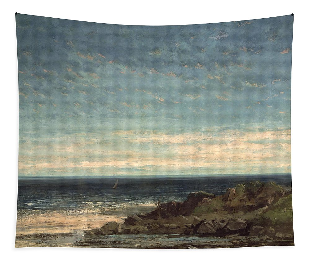 The Tapestry featuring the painting The Sea by Gustave Courbet