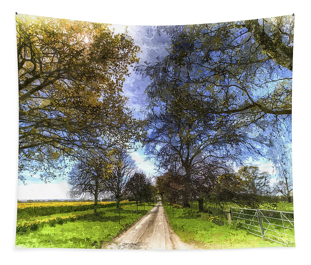 Summer Tapestry featuring the photograph The Summer Farm Track Art by David Pyatt