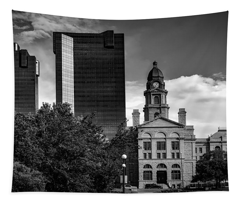 Tarrant County Tapestry featuring the photograph The Tarrant County Courthouse by Mountain Dreams