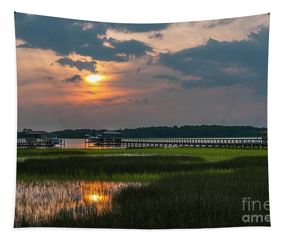 Sunset Tapestry featuring the photograph Thriving Beauty Of The Lowcountry by Dale Powell