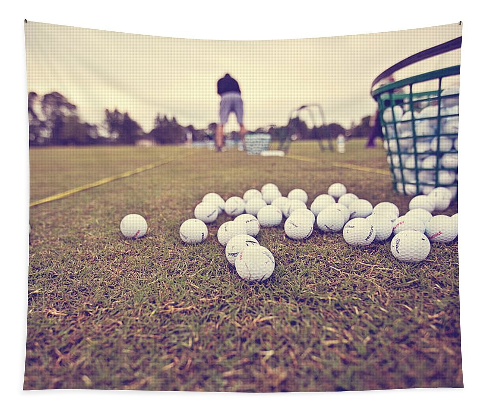 Golf Tapestry featuring the photograph Time On The Range by Scott Pellegrin