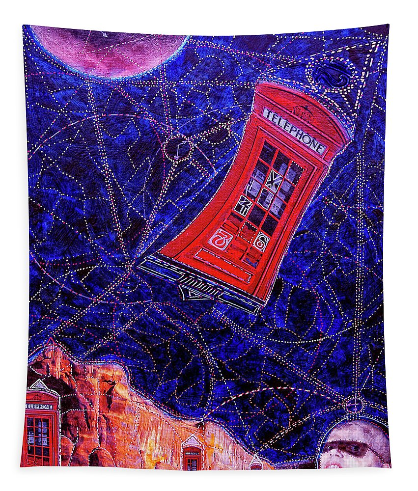 Dr. Who Tapestry featuring the painting Time Traveler by Dominic Piperata