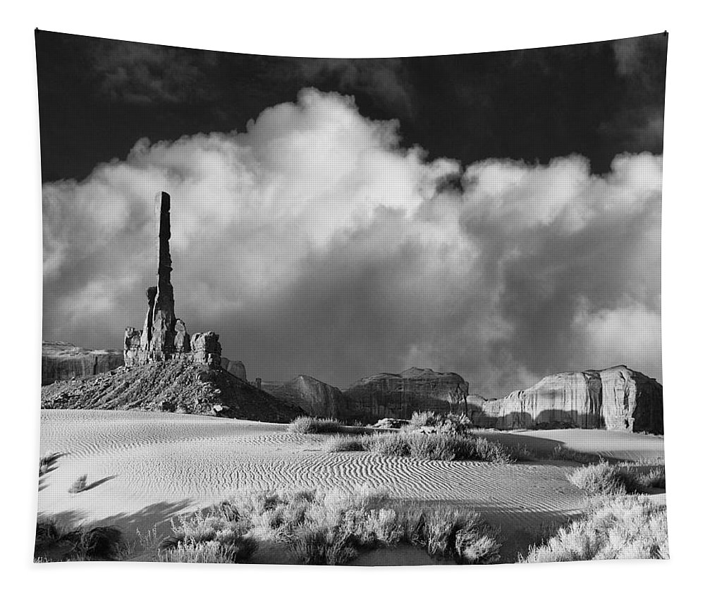 Totem Pole Tapestry featuring the photograph Totem Pole Monument Valley by Dominic Piperata