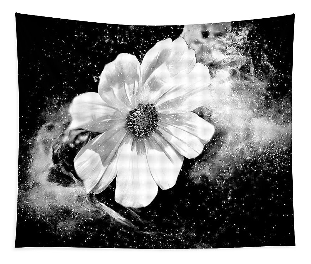 Flower Tapestry featuring the mixed media Universal Floral by Debra Lynch