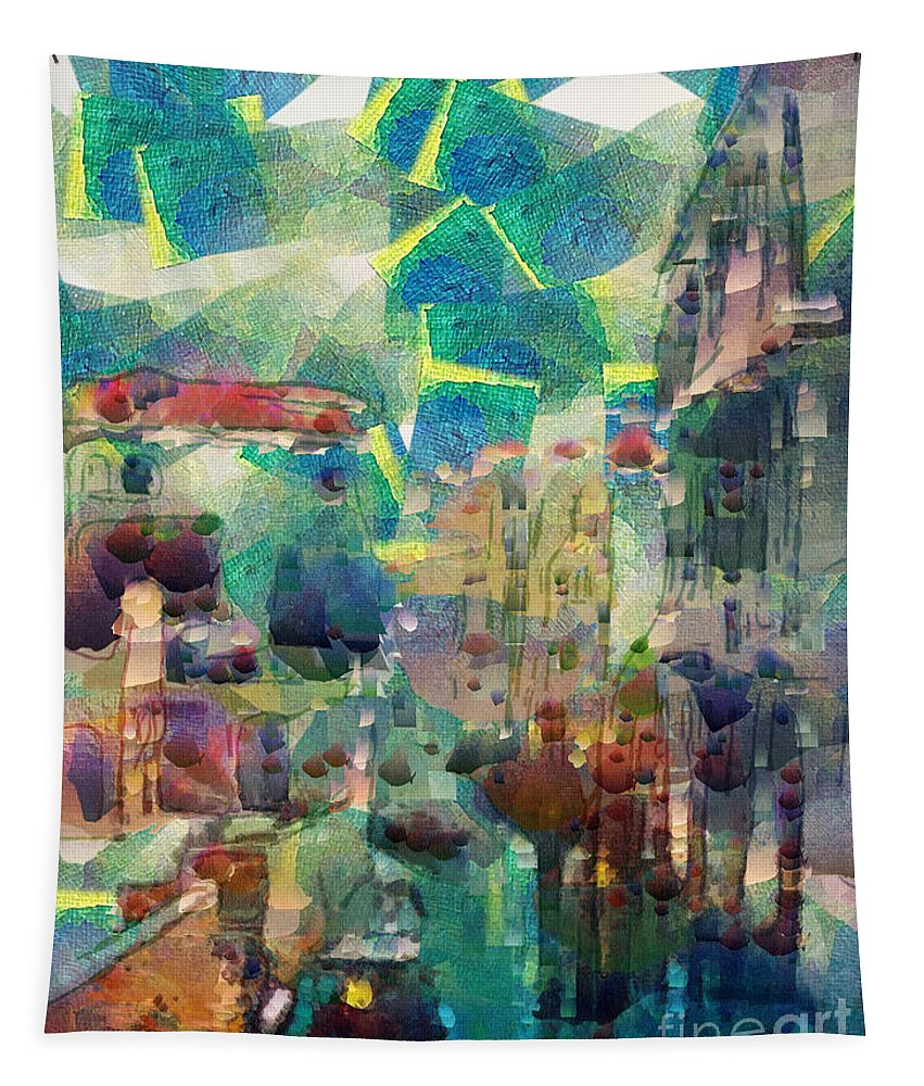 Venice Poster Tapestry featuring the painting Venice by Sergey Lukashin