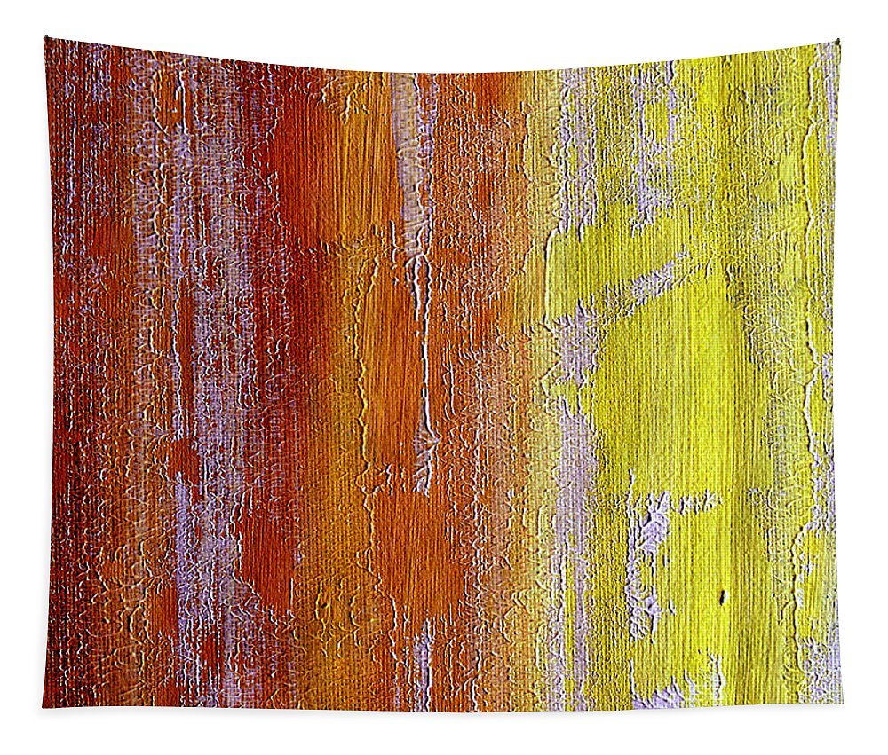 ruth Palmer Tapestry featuring the painting Vertical Interfusion by Ruth Palmer