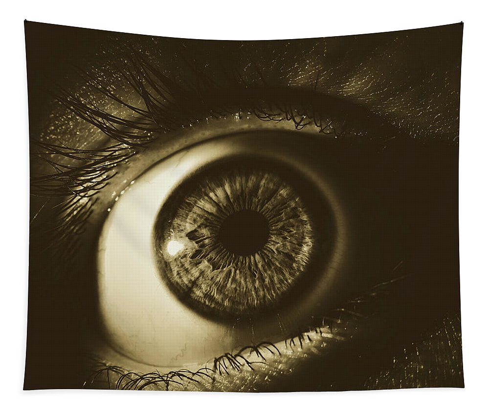Eye Tapestry featuring the photograph Vision by Pixabay
