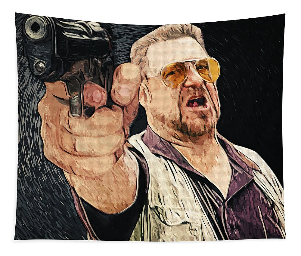 Walter Sobchak Tapestry featuring the digital art Walter Sobchak by Zapista Zapista
