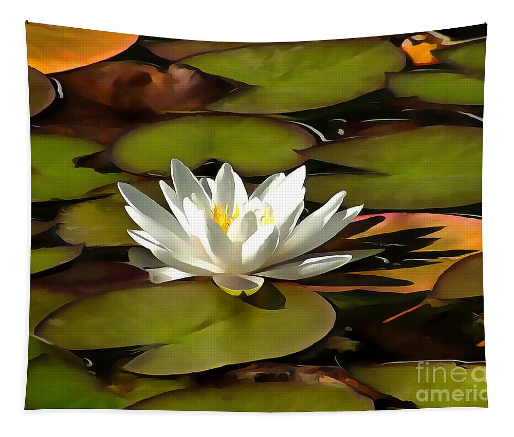 Water Lily Tapestry featuring the photograph Water Lily by Sergey Lukashin