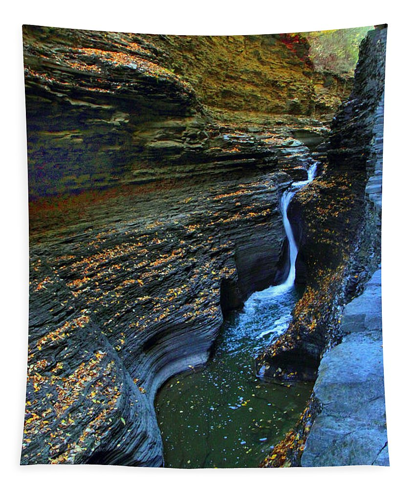 Gorge Tapestry featuring the photograph Watkins Glen Gorge by Jessica Jenney