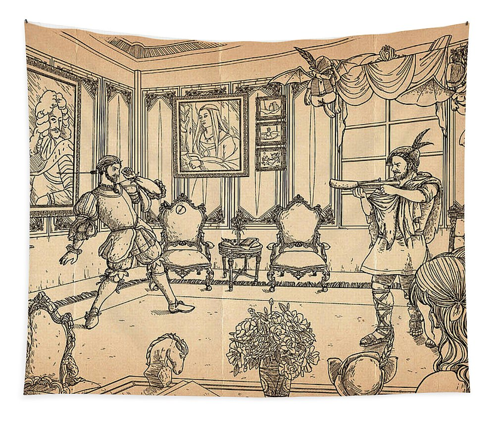 The Wurtherington Diary Tapestry featuring the painting William Tell And Leopold I by Reynold Jay