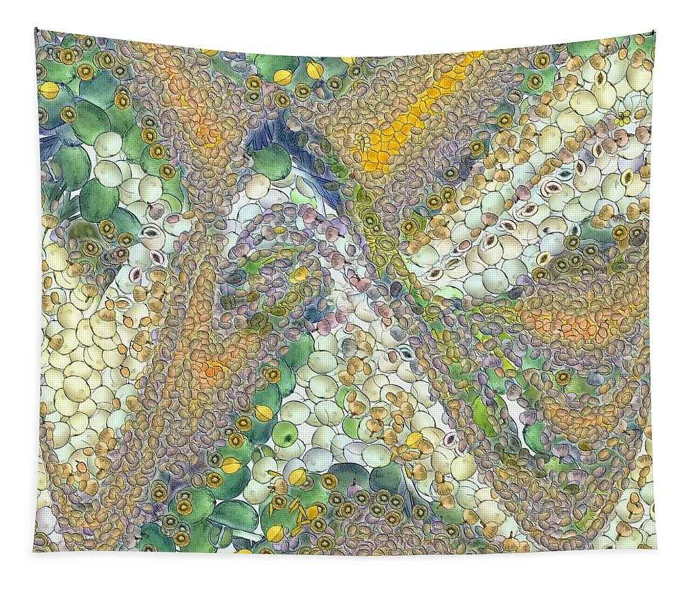 Winter Tapestry featuring the painting Winter by Dragica Micki Fortuna