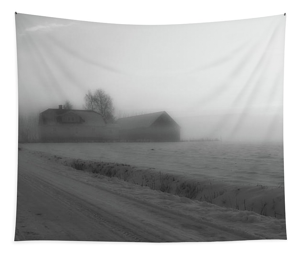 Sweden Tapestry featuring the photograph Winter Evening Begins In Sweden by Pixabay