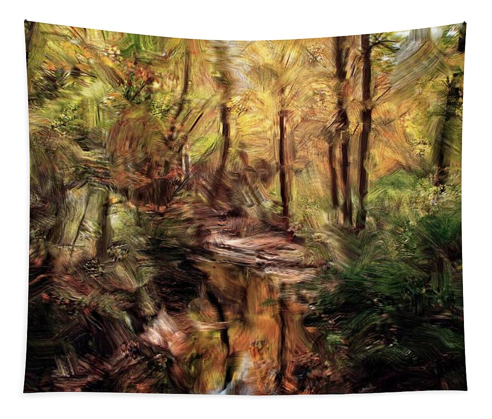Woodland Tapestry featuring the photograph Woodland Stream by Robert McCulloch