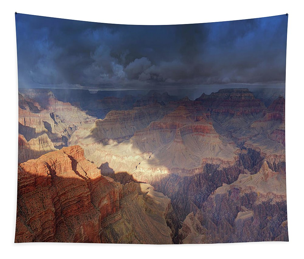 Grand Canyon Tapestry featuring the photograph World Of Wonders by OLena Art Brand