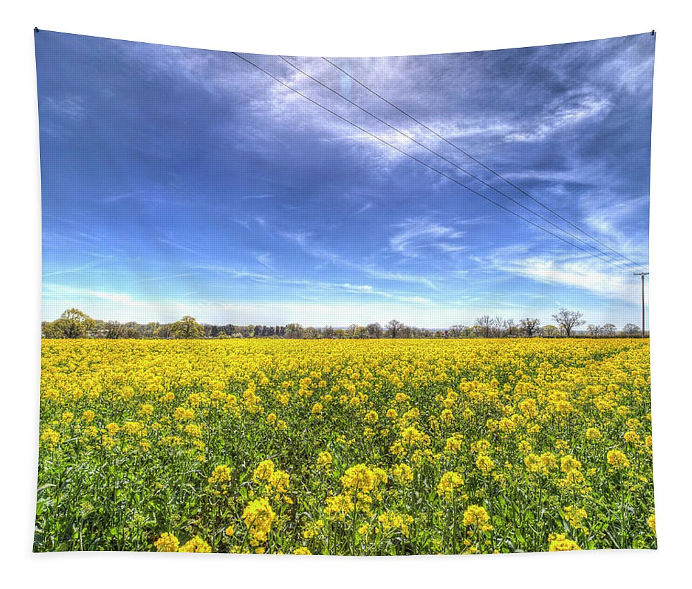 Summer Tapestry featuring the photograph Yellow Fields Of Summer by David Pyatt