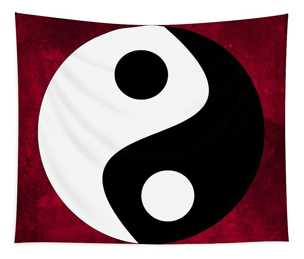 Yin And Yang Tapestry featuring the digital art Yin And Yang by Marianna Mills