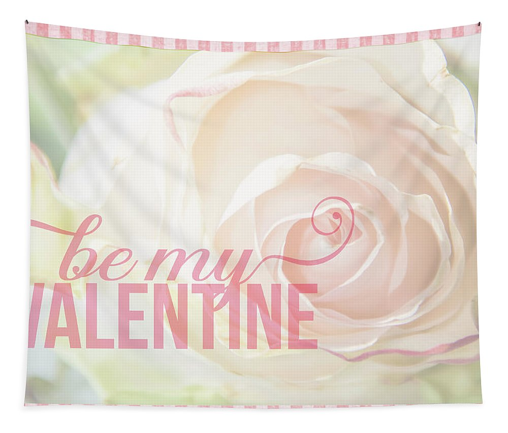 Valentines Day Tapestry featuring the mixed media 10758 To My Valentine by Pamela Williams