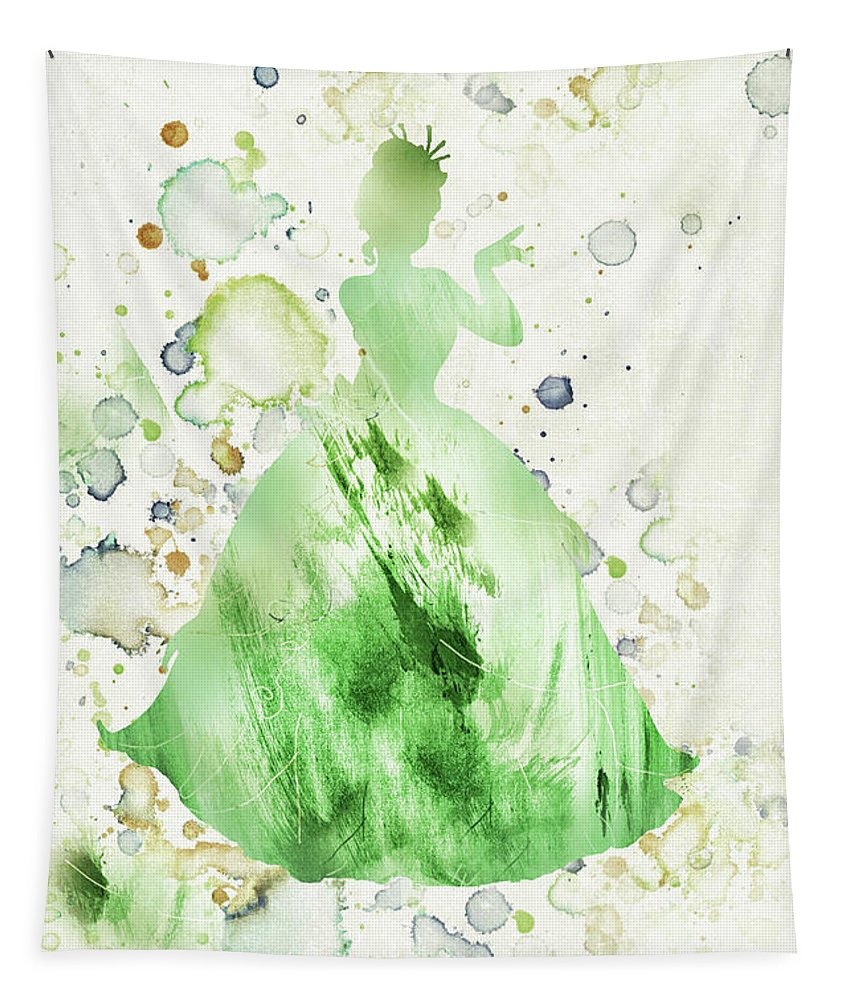 Disney Tapestry featuring the mixed media 10807 Princess Tiana by Pamela Williams