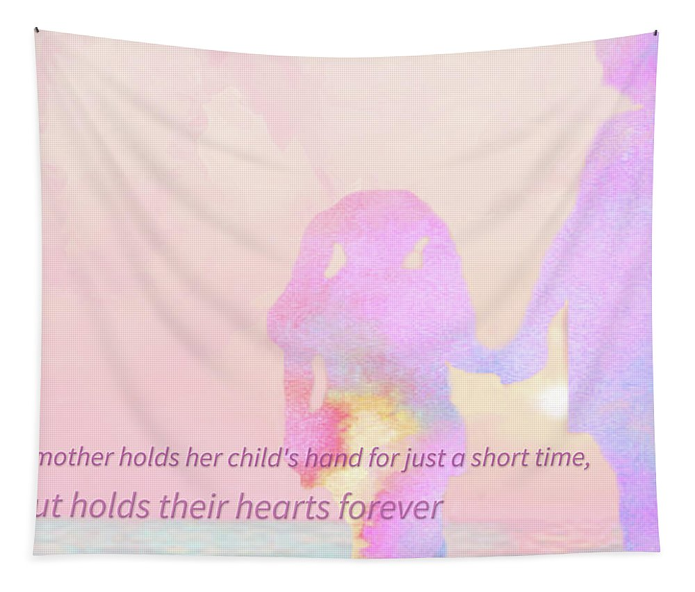 Mother's Day Tapestry featuring the digital art 10918 Card For Mom by Pamela Williams