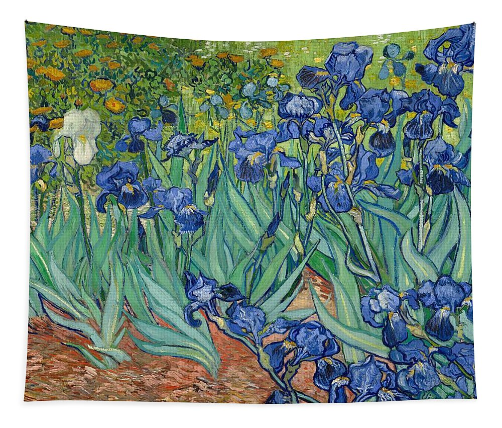 Painting Tapestry featuring the painting Irises by Mountain Dreams