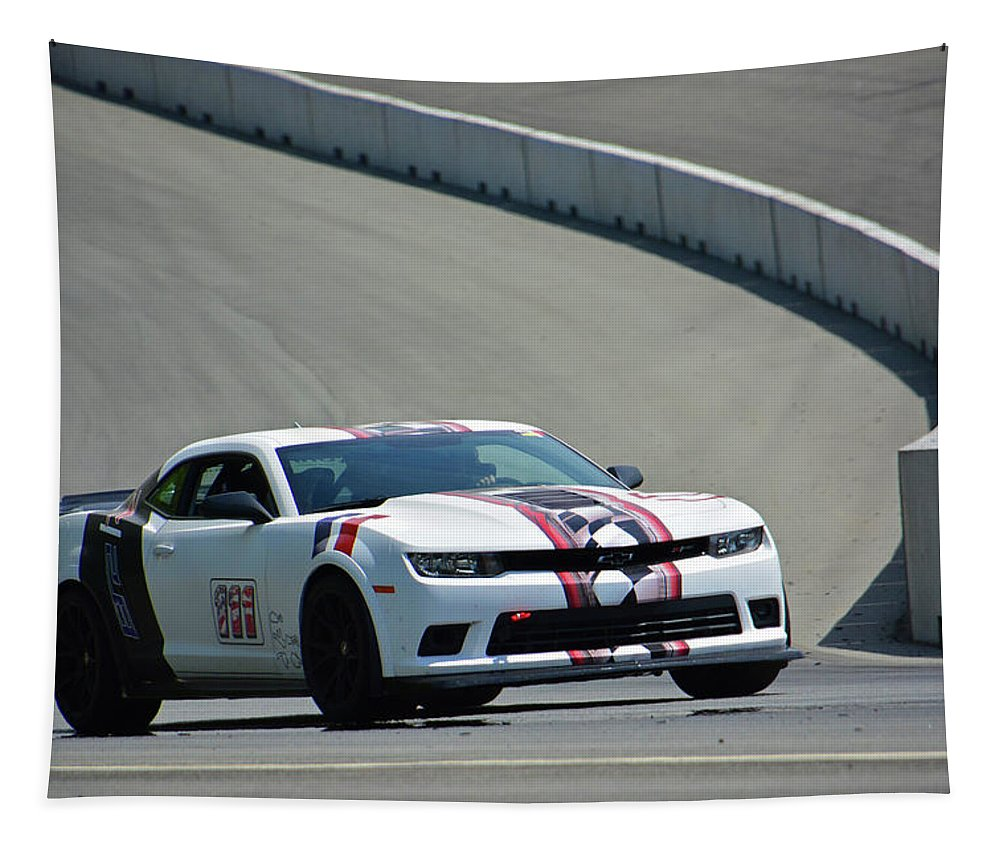 Chevrolet Tapestry featuring the photograph 111 Chevy Camaro Z28 by Mike Martin
