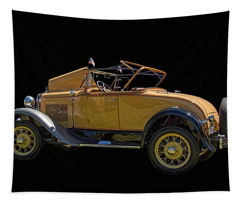 1930 Tapestry featuring the photograph 1930 Model A Ford Convertible by Nick Gray