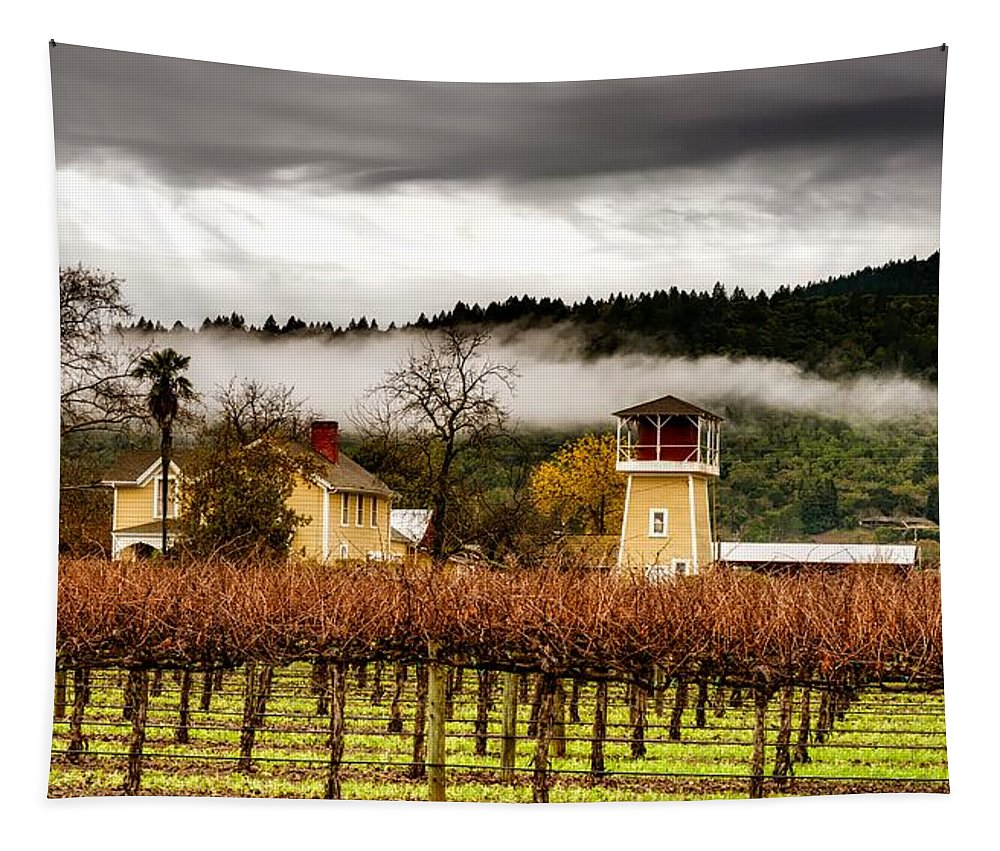 Napa Valley Tapestry featuring the photograph Napa Valley Vineyard by Mountain Dreams