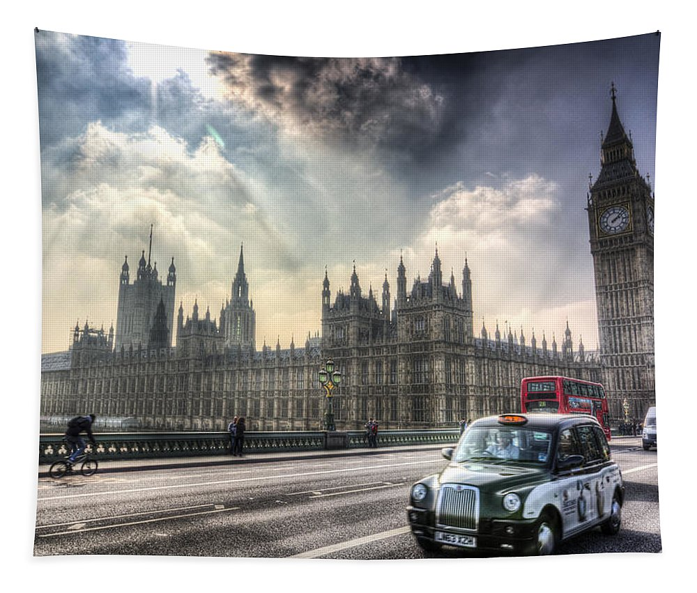 Westminster Tapestry featuring the photograph Westminster Bridge London by David Pyatt